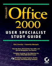Cover of: Microsoft Office 2000 user specialist study guide