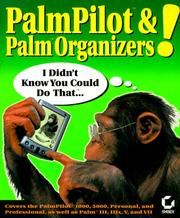 Cover of: PalmPilot and Palm Organizers! I Didn't Know You Could Do That..