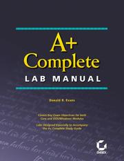 Cover of: A+ Complete Lab Manual | Donald R. Evans