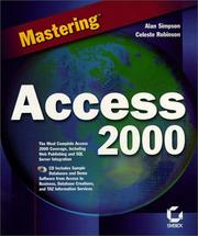 Cover of: Mastering Access 2000