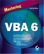 Cover of: Mastering  VBA 6 (Mastering)