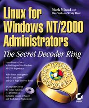Cover of: Linux for Windows Nt/2000 Administrators: The Secret Decoder Ring (Mark Minasi Windows 2000)