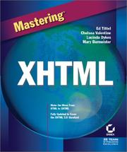 Cover of: Mastering XHTML