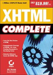 Cover of: XHTML Complete | Sybex Inc.