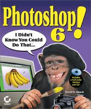 Cover of: Photoshop 6! I Didn't Know You Could Do That..