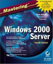 Cover of: Mastering Windows 2000 Server