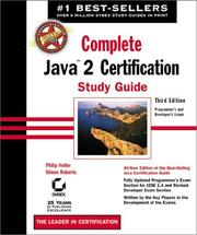 Cover of: Complete Java 2 Certification Study Guide |