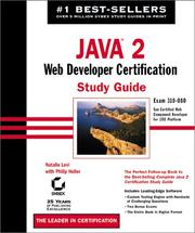 Cover of: Java 2 Web Developer Certification Study Guide with CD-ROM | Natalie Levi
