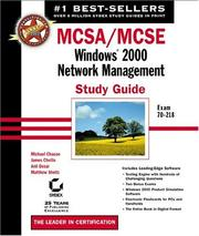 Cover of: MCSA/MCSE | Michael Chacon