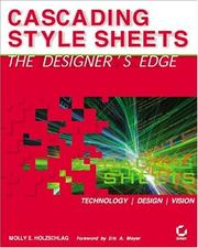 Cover of: Cascading style sheets | Molly E. Holzschlag