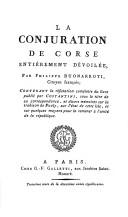 Cover of: La conjuration de Corse