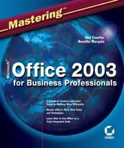 Cover of: Mastering Microsoft Office 2003 for business professionals