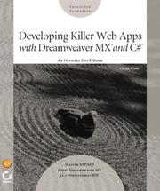 Cover of: Developing Killer Web Apps with Dreamweaver MX and C# | Chuck White