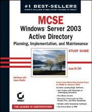 Cover of: MCSE Windows Server 2003 active directory planning, implementation, and maintenance study guide | Anil Desai