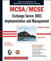 Cover of: MCSA/MCSE Exchange server 2003 implementation and management | Will Schmied