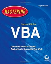 Cover of: Mastering VBA (Mastering)