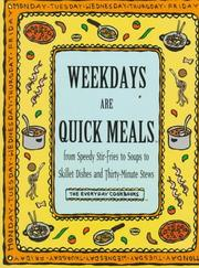 Cover of: Weekdays Are Quick Meals