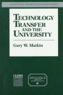 Cover of: Technology transfer and the university