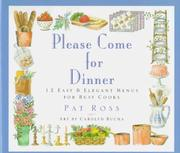 Cover of: Please come for dinner