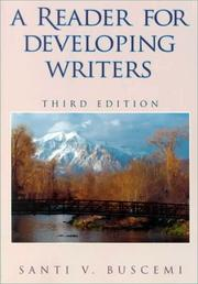 Cover of: A reader for developing writers | Santi V. Buscemi