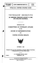 Cover of: Veterans' Benefits