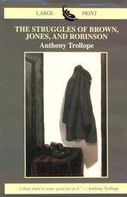 Cover of: The struggles of Brown, Jones, and Robinson: by one of the firm