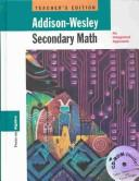 Cover of: Addison-Wesley Secondary Math |