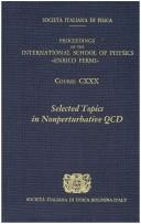 Cover of: Selected topics in nonperturbative QCD