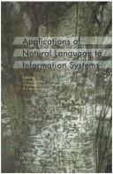Cover of: Applications of natural language to information systems
