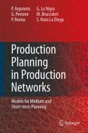 Cover of: Production planning in production networks |