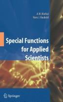 Cover of: Special functions for applied scientists | A. M. Mathai
