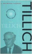 Cover of: Tillich | J. Heywood Thomas