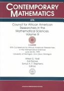 Cover of: Council for African American Researchers in the Mathematical Sciences