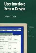 Cover of: User-interface screen design