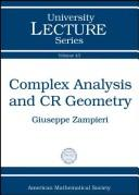 Cover of: Complex analysis and CR geometry