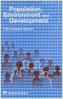 Cover of: Population, environment and development |