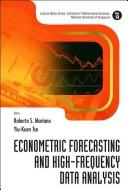 Cover of: Econometric forecasting and high-frequency data analysis |