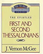 Cover of: 1 & 2 Thessalonians | J. Vernon McGee