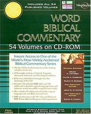 Cover of: The Word Biblical Commentary on CD-ROM |