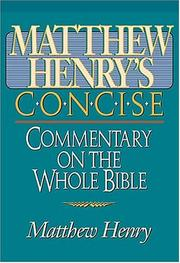 Cover of: Matthew Henry