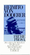 Cover of: Frühe Prosa
