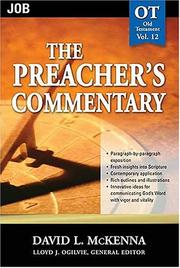 Cover of: The Preacher's Commentary-Vol. 12- Job