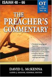 Cover of: The Preacher's Commentary - Vol. 18- Isaiah 40-66