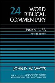 Cover of: Isaiah 1-33 | John D. W. Watts