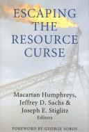 Cover of: Escaping the resource curse