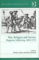 Cover of: War, Religion and Service | Matthew Glozier