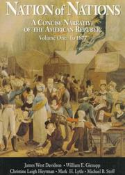 Cover of: Vol. I Nation of Nations: A Concise Narrative of the American Republic