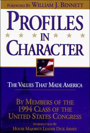 Cover of: Profiles in character |