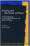 Cover of: Poetry And The Sense Of Panic. Critical Essays on Elizabeth Bishop and John Ashbery. (Costerus NS 124) (Costerus NS)