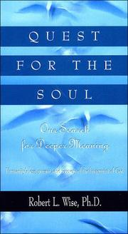 Cover of: Quest for the soul: our search for deeper meaning